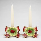 CG - Victorian Harvest Holly with Red Ribbon Holiday Taper Candle Holder - This gorgeous Victorian Harvest Holly with Red Ribbon Holiday Taper Candle Holder has the finest details and highest quality you will find anywhere! Victorian Harvest Holly with Red Ribbon Holiday Taper Candle Holder is truly remarkable.