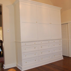 Custom Bedroom Armoire and Drawer Unit - carpentry concepts llc, Custom Bedroom Armoire and Drawer Unit