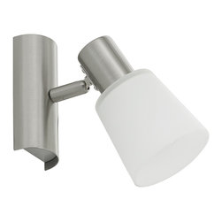 EGLO - Eglo 89942A Matte Nickel 1X60W Wall/Ceiling Light - EGLO 89942A Matte Nickel 1x60W Wall/Ceiling Light