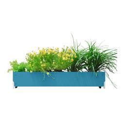 SHIFT_DESIGN - Bolton Planter, Light Blue - Outdoor Planter