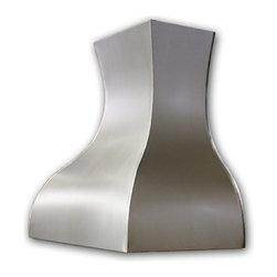 Art of Rain - Steel Range Hood - Art of Rain has created a steel range hood in Pewter finish. This range hood design have beautiful smooth and whimsical curves. Visit artofrain.com for more info.