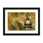Amanti Art - Zen Garden Framed Print by Erin Clark - Just as a candle cannot burn without fire, men cannot live without a spiritual life.  Buddha