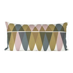 Ferm Living - Mountain Lake Pillow - Large - Ferm Living - Ferm Living's Mountain Lake cushions are made of 100% organic cotton with a geometric design in a unique, calming colors. Decorate your couch or use them as headboard cushions on your bed for extra comfort.