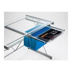 Dainolite - Silver Metal File Drawer - -Main Body Material: Steel