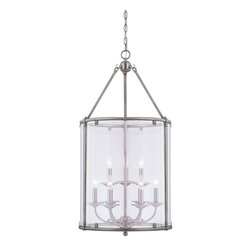 Savoy House - Foxcroft 9 Light Foyer - Foxcroft will add an elegant touch to your home decor with clean lines and a lustrous Brushed Pewter finish. Designed by Brian Thomas, these stunning fixtures mix classic design with contemporary flair.