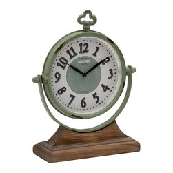 Amazing Styled Metal wood Table Clock - Description: