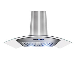 "AKDY - AKDY AK-Z668AS Euro Stainless Steel Wall Mount Range Hood, 36"" - One of the original curved glass canopy range hoods, AKDY 668AS has become an icon by virtue of its timeless design. Now upgraded with suppression System, 668AS takes range hood detail and performance to higher grounds. outfitted with dual LED light bulbs and electronic controls, 668AS is as relevant today as it was the day we introduced it in 2008."
