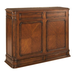 Crystal Pointe XL Brown TV Lift Cabinet - TV lift cabinet finished on five sides. Can be positioned at the foot of a bed, or as a room divider. TV not included.