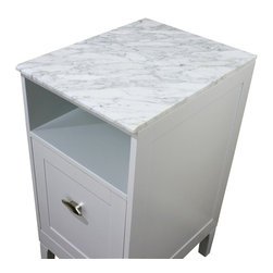 Bellaterra Home - 16 in. White carrara marble top - Transform your bathroom with Bellaterra's natural Carrera White Marble Vanity Top.