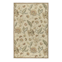 Surya - Indoor/Outdoor Rain 3'x5' Rectangle Beige-Tan  Area Rug - The Rain area rug Collection offers an affordable assortment of Indoor/Outdoor stylings. Rain features a blend of natural Beige-Tan  color. Hand Hooked of 100% Polypropylene the Rain Collection is an intriguing compliment to any decor.