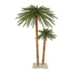 Vickerman 4 ft. and 6 ft. Outdoor UV Palm Tree - The tropical beauty of the Vickerman 4 ft. and 6 ft. Outdoor UV Palm Tree is a fun and festive addition to your holiday decor. 400 lights add a brilliant glow to these trees from their base to their tops. UV protected, this beautiful set of trees is ideal for outdoor use. Specifications for 4-Foot and 6-Foot Outdoor UV Palm Tree Shape: Medium Number of Bulbs: 400 Number of Tips: 113 Don't Forget to Fluff!Simply start at the top and work in a spiral motion down the tree. For best results, you'll want to start from the inside and work out, making sure to touch every branch, positioning them up and down in a variety of ways, checking for any open spaces as you go.As you work your way down, the spiral motion will ensure that you won't have any gaps. And by touching every branch you'll create the desired full, natural look. About VickermanThis product is proudly made by Vickerman; a leader in high quality holiday decor. Founded in 1940; the Vickerman Company has established itself as an innovative company dedicated to exceeding the expectations of their customers. With a wide variety of remarkably realistic looking foliage; greenery and beautiful trees; Vickerman is a name you can trust for helping you create beloved holiday memories year after year.