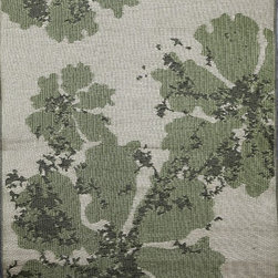 b.b.begonia - Area Rug/ Patio mat- 4' x 6'- Boca- Reversible, Green/Brown for Outdoor Use - Green flowers scattered over a muted background and highlighted by speckled effect. This reversible mat is a great solution for the sunroom, for the patio, for the deck, by the pool or in the yard.