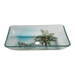 """Legion Furniture - Coconut Tree Rectangular Vellel Sink - Coconut Tree Rectangular Vellel Sink Material: Double Layer Tempered Glass