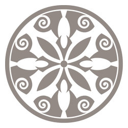 Odhams Press - Breton Taupe RETile Decal, Clear Background - RETile decals can be used to accent or transform your existing ceramic, stone or glass tiles. They are easy to apply and can be removed in the future without leaving a sticky residue.