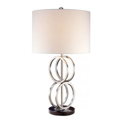 Ambience - Ambience Table Lamp - 12208 - Ring in your remodeled home! This table lamp employs the foundation of strong design in the stacked rings around the narrow base. Ideal for a desktop or sofa console table.