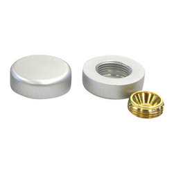 Nova Display, Inc. - 1 x 3/10 Decorative Screw Cover Round Caps, Aluminum, Anodized Finish - Aluminum Standoffs -Simple and inexpensive decorative hardware for enhancing your wall mounted or free-standing signage. When a clean, unobtrusive look is your prime goal, the decorative screw-cap supports are the best solution. Aluminum screw caps are available in 16mm (5/8), 19mm (3/4), and 25mm (1) diameters...