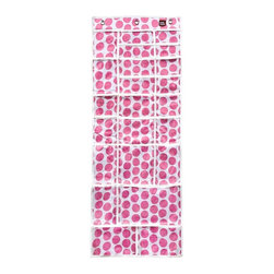 Simply Stashed - The Variety Stash-Pink Crazy Dot - The Variety Stash is ideal for storing smaller and larger items together in one place!  Great for kid's clothes, school or office supplies, craft areas, and more!