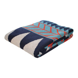Winter Slopes Throw Blanket - Add a graphic punch to your space with this throw blanket. Made in the USA from 80% recycled cotton and 20% acrylic, this blanket will add a warm feel and cozy energy to any space. Machine washable and dryable, throw one over the back of a couch, lounge chair, or bed for a warm, snuggly time with family and friends.