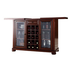 Crosley Furniture - Crosley Alexandria Sliding Top Bar Cabinet in Vintage Mahogany - Crosley Furniture - Home Bars - KF40002AMA