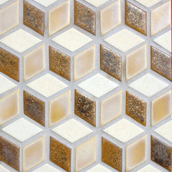 Graphic mosaic - Love the graphic nature of this mosaic. Can be bold in black & white or subtle mix of colors.