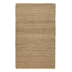 Country Living - Country Living Country Jutes Natural Fiber Hand Woven Rug X-85-0002JTC - Another inspired ensemble from Country Living, the Country Jutes Collection exemplifies the essence of casual style. Hand-woven from all natural jute in monochromatic shades of beige, each rug combines fibers to create a variety of patterns that exude a simple elegance ideal for traditional to transitional interiors.