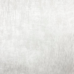 Brewster Home Fashions - Chandra Silver Ikat Texture Wallpaper Swatch - This couture silver wallpaper texture features a stria glitter effect evoking an exotic textiles spun from soft silk and metallic threads.