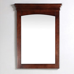 WyndenHall - Windsor 22x30-inch Walnut Brown Bath Vanity Decor Mirror - Complete the look of your bathroom when you install this Windsor rectangular classic bathroom vanity mirror. With its dark walnut finish, this solid wooden frame and beveled glass mirror is the perfect option for any traditional decor.
