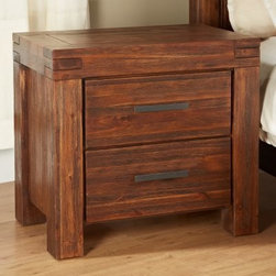 Meadow 2 Drawer Nightstand - Brick Brown - The Meadow 2 Drawer Nightstand - Brick Brown is an eco-friendly nightstand that brings a touch of rustic appeal to your home. Constructed from solid Acacia wood and engineered wood, this durable nightstand is embellished in brick brown finish adding warmth to its surroundings. Featuring two spacious drawers, this nightstand provides you with optimal organizational space perfect for journals, books, phone chargers, etc. Completing the look of this nightstand is its English dovetail joinery that ensures lasting quality.About ModusIn business since 1994, Modus Furniture International is a leading manufacturer and distributor of contemporary and transitional bedroom, dining room, and home entertainment furniture. Their products are designed for today's lifestyle and engineered to offer top quality and exceptional value. Based in Los Angeles, Modus Furniture is sold in all 50 states and throughout North America by retailers who recognize Modus's commitment to value, quality, and service.