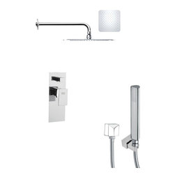 Remer - Square Shower Faucet with Hand Shower - Single function shower faucet.