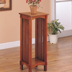 Coaster - Oak Traditional Plant Stand - Mission style plant stand in solid oak.