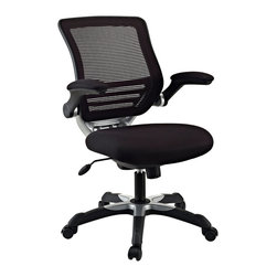 LexMod - Edge Office Chair in Black - Welcome to a new era in functional comfort. The Edge office chair combines old time charm with cutting edge ergonomics to deliver one comprehensive seating experience.   Every feature imaginable in a chair is available as soon as you sit down. This is a c