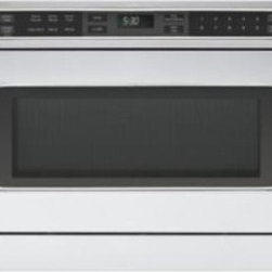 "Viking 24"" Microwave Drawer - This beautiful 24"" Microwave Drawer by Viking is not only convenient to use, but is built-in to save you more counter space.  It has a slim design and sleek style that helps maximize kitchen space and it can be installed  under a countertop, in an island, or under a wall oven"