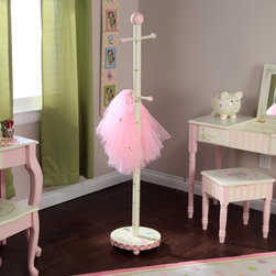 Fantasy Fields - Fantasy Fields Bouquet Coat Rack - W-4463F - Shop for Coat Racks and Trees from Hayneedle.com! Just like mom and dad's coat rack the Teamson Design Bouquet Coat Rack holds coats purses pajamas robes and dress-up costumes in style until they are ready to be used. The hand-painted floral theme coordinates with other Teamson themed furniture and accessories also available. Made of sturdy rigid MDF the coat rack can stand up to even the most energetic coat hanger-upper. The arms of the rack and the top are embellished with smooth round pink balls to keep your child's clothes nice. The beautiful hand-painted base is a terrific accent for any room and matching pink balls serve as feet to make the coat rack sturdy and stable as it stands tall at your service. Suitable for all ages.The Benefits of MDF/Engineered WoodMDF is made of wood fibers and is highly compressed with adhesive. It's denser than particle board and the surface is very smooth. MDF board is extremely strong and resistant to warping and it's easy to cut drill and machine. It is used in the manufacture of furniture and accessories for schools homes and offices. MDF is so strong that it's included in the construction of desks high quality marker boards work surfaces pillars and other products. MDF often is covered by laminates or veneers. It provides a sturdy substrate that supports the surface material and increases its longevity. MDF can be painted stained and/or grain-stamped to look like hard woods. Best of all MDF saves money and can be good for the environment. By using recovered wood fiber MDF contributes to reducing landfills slowing deforestation and preserving habitats. Overall MDF is an excellent value and a fine furniture material.About Teamson DesignBased in Edgewoood N.Y. Teamson Design Corporation is a wholesale gift and furniture company that specializes in handmade and hand-painted kid-themed furniture collections and occasional home accents. In business since 1997 Teamson continues to inspire homes with creative and colorful furniture.