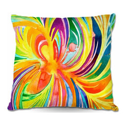 DiaNoche Designs - Seat of the Soul Pillow - Soft and silky to the touch, add a little texture and style to your decor with our Woven Linen throw pillows. 100% smooth poly with cushy supportive pillow insert, zipped inside. Dye Sublimation printing adheres the ink to the material for long life and durability. Double sided print. Machine washable. Product may vary slightly from image.
