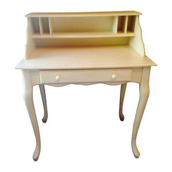 Pre-owned Pottery Barn Antique White Desk - This Pottery Barn white desk has the ever sought after Shabby Chic Contemporary look that we adore! This desk was purchased last month and has never been used. Brand new!