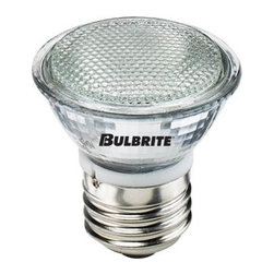Bulbrite - 2.25 in. Halogen Light Bulbs - 10 Bulbs (35w) - Choose Wattage: 35wOne pack of 10 Bulbs. 120 V E26 mini reflector medium base MR16 bulb type. 38 degree flood beam spread. Lens for UV stop protection. Fully dimmable. Ideal for residential and commercial applications. Commonly used in museums, galleries and retail display. Clear glass. Color temperature: 2700 K. Color rendering index: 100. Average hours: 2000. 20 watt:. Lumens: 750 CP. Center beam candle power: 300. 35 watt:. Lumens: 1320 CP. Center beam candle power: 500. 50 watt:. Lumens: 1800 CP. Centre beam candle power: 800. Maximum overall length: 2.25 in.