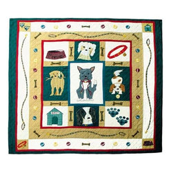 Patch Quilts - Fido Queen Quilt - -Constructed of 100% Cotton  -Machine washable; gentle dry  -Made in India Patch Quilts - QQFIDO