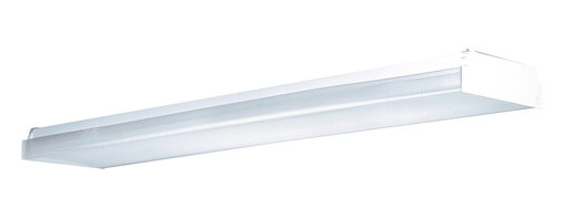 AFX Lighting - AFX Lighting Low Profile Wrap Overhead Linear Fluorescent Light Fixture in White - Shown in picture: Economy Narrow Wrap - Die-formed - rigid - pre-finished - white steel housing; stem - continuous or individual mounting.; Made in USA