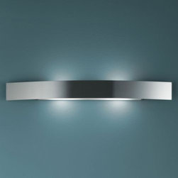 FontanaArte - Riga Large Wall Sconce by FontanaArte - From Italian designer Paolo Zani. With its cool yet sensuous modernity, the FontanaArte Riga Wall Sconce is at home in both casual and formal spaces. Features a metal frame (in either brushed nickel or non-reflecting, non-scratch aluminum varnish) and shades in tempered sandblasted glass. Its warm ambient light is an ideal enhancement to bedrooms, bathrooms, living areas and more. Renowned Italian architect, designer and painter Gio Ponti founded FontanaArte in 1932 as the artistic division of glassmaker Luigi Fontana. Ponti used Fontana glass to design lighting filled with his own visionary brand of sensuous, poetic modernism. Today, more than 75 year later, the innovative artists at FontanaArte continue Ponti's legacy, creating expressive and transformative modern lighting designs.