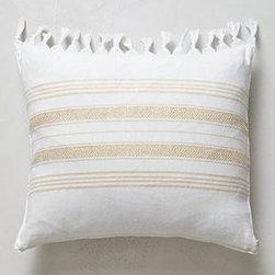"Anthropologie - Pestemal Pillow - By Christen MaxwellSide zipCotton; down fillDry clean16"" squareUSA"