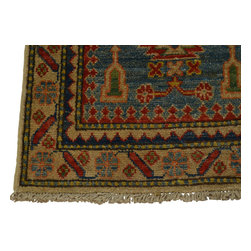 2x3 Tribal Design 100% Wool Denim Blue Kazakh Oriental Rug Hand Knotted Sh18500 - Our Tribal & Geometric hand knotted rug collection, consists of classic rugs woven with geometric patterns based on traditional tribal motifs. You will find Kazak rugs and flat-woven Kilims with centuries-old classic Turkish, Persian, Caucasian and Armenian patterns. The collection also includes the antique, finely-woven Serapi Heriz, the Mamluk Afghan, and the traditional village Persian rug.