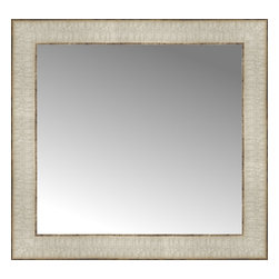 """Posters 2 Prints, LLC - 17"""" x 16"""" Libretto Antique Silver Custom Framed Mirror - 17"""" x 16"""" Custom Framed Mirror made by Posters 2 Prints. Standard glass with unrivaled selection of crafted mirror frames.  Protected with category II safety backing to keep glass fragments together should the mirror be accidentally broken.  Safe arrival guaranteed.  Made in the United States of America"""