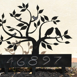 Family Tree Yard Sign (Powder Coated Steel) -