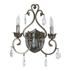 Kenroy - Kenroy 91342WS Antoinette 2-Light Sconce - Kenroy 91342WS Antoinette 2-Light Sconce