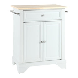 Crosley - LaFayette Natural Wood Top Portable Kitchen Island - Dimensions: 18 x 28.2 x 36 inches