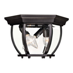 Savoy House - Savoy House Flush Mount Flush Mount Outdoor Lighting Fixture in Bronze - Shown in picture: Decorate your favorite outdoor spaces to bring a sense of style Al Fresco!