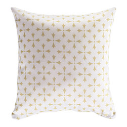 Nine Space - Rhodes Pillow Cover, Cream - The filigree pattern on this pillow cover was designed based after the domes and windmills found along the island of Rhodes, Greece. Available in a pleasing palette of neutrals, the motif is subtle enough to mix and match seamlessly with different colors and designs. Toss a few on your daybed, chaise, sofa or lounge chair.