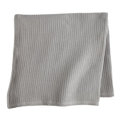 Peacock Alley - Riviera Blanket, Flint, Queen - Comfort is king with this sumptuously soft 100 percent Egyptian cotton blanket. The simple styling is guaranteed to suit your décor and its season-less weight makes it the ideal year-round bedmate.