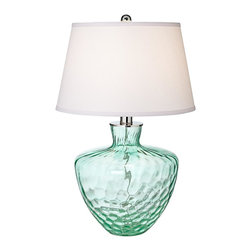 Pacific Coast Lighting - Pacific Coast Lighting 87-7104-43 Emerald Cascade Table Lamp - Sea Coast Green Finish