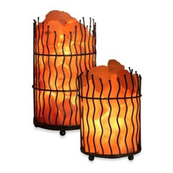 Wbm Llc - WBM Himalayan Iconic Crystal Pillar Salt Basket Lamp - Rev up your spirit in the comfort of your home. Made of salt crystals from deep within the Himalayan Mountains, this natural salt lamp basket is as sophisticated as it is purifying. A charming pillar-shaped basket made out of wire holds the salt crystals.